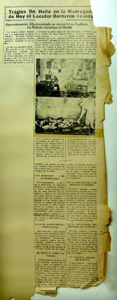 Diario el País. Fotografia. Erwing Augsten. Recuperación digital Nicolas Sosa